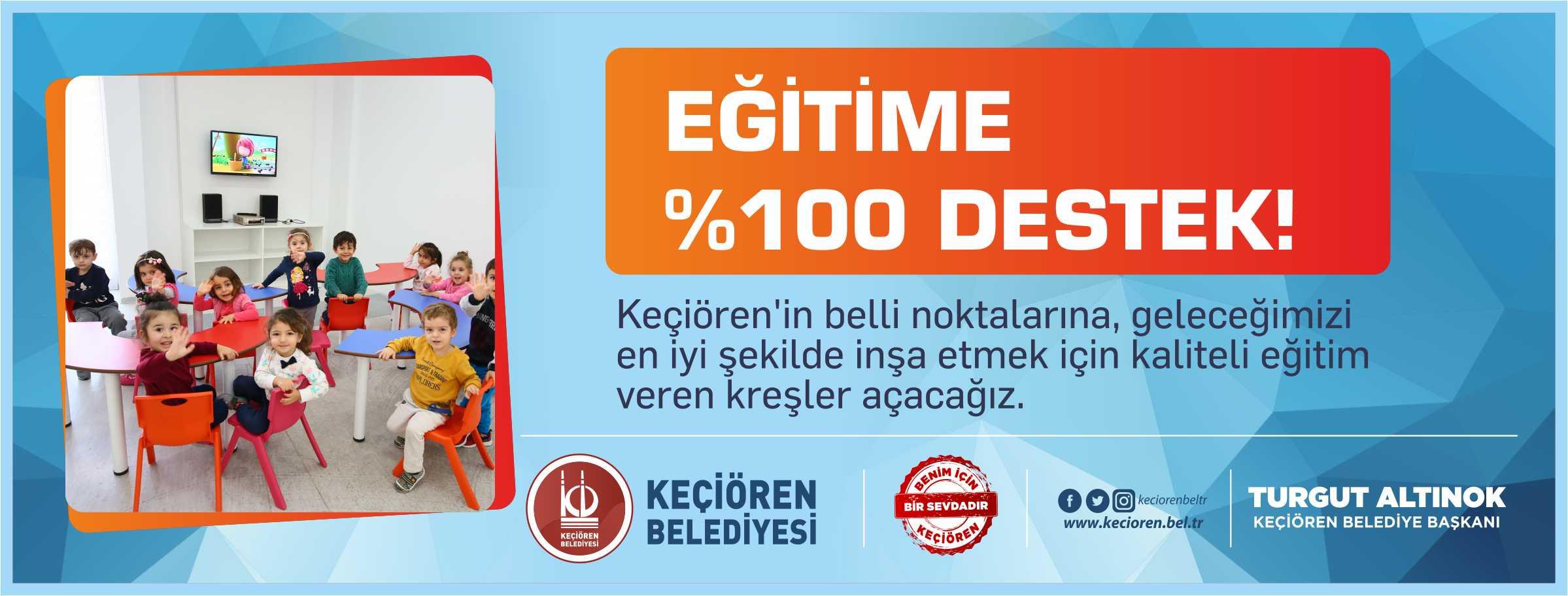 EĞİTİME %100 DESTEK!