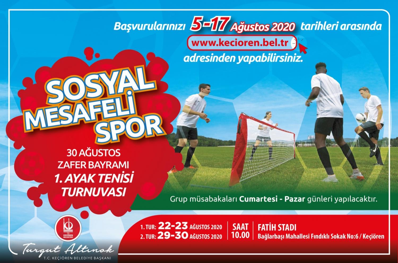 """30 Ağustos Zafer Bayramı """"1'inci Ayak Tenisi Turnuvası"""" başvuruları başladı"""