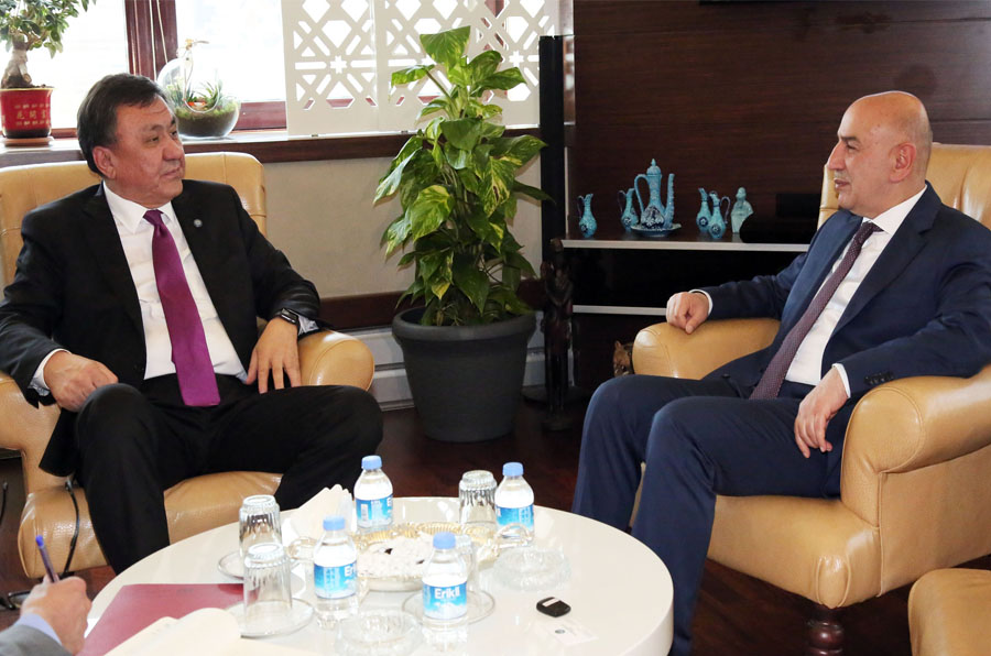 AMBASSADOR OF KYRGYZSTAN ÖMÜRALIYEV VISITS MAYOR ALTINOK