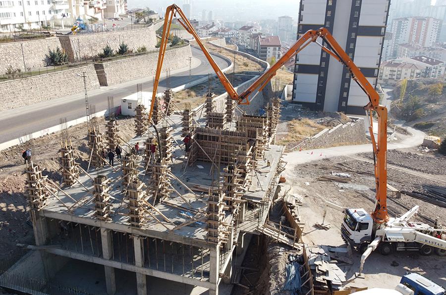 Keçiören'in yeni mahalle konağı Şehit Kubilay'da yükseliyor